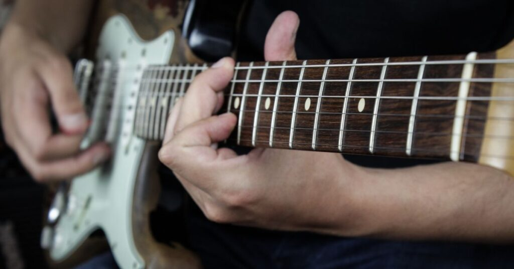 notas en guitarra